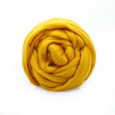 Шерсть полутонкая 100% Цвет горчица