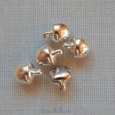 Бубенчики серебро 6 мм — 5 штук