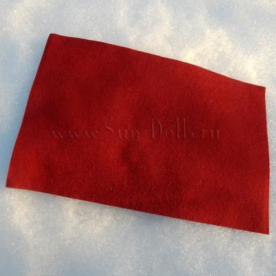 Фетр шерсть-вискоза, 1 лист 20*30 см — кармин