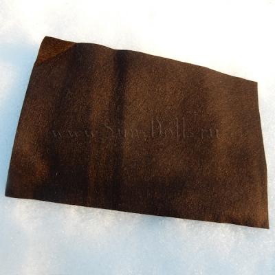 Фетр шерсть-вискоза, 1 лист 20*30 см — тёмно коричневый