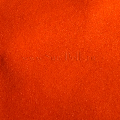 Фетр шерсть-вискоза,  1 лист 20*30 см — оранжевый