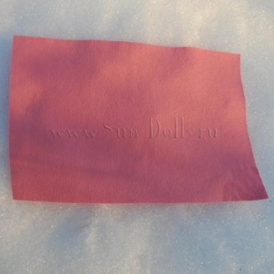 Фетр шерсть-вискоза,  1 лист 20*30 см — розовый