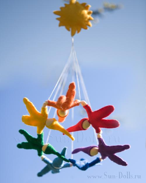 Набор для изготовления подвески «Радужные гномы»