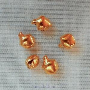 Бубенчики золото 6 мм — 5 штук